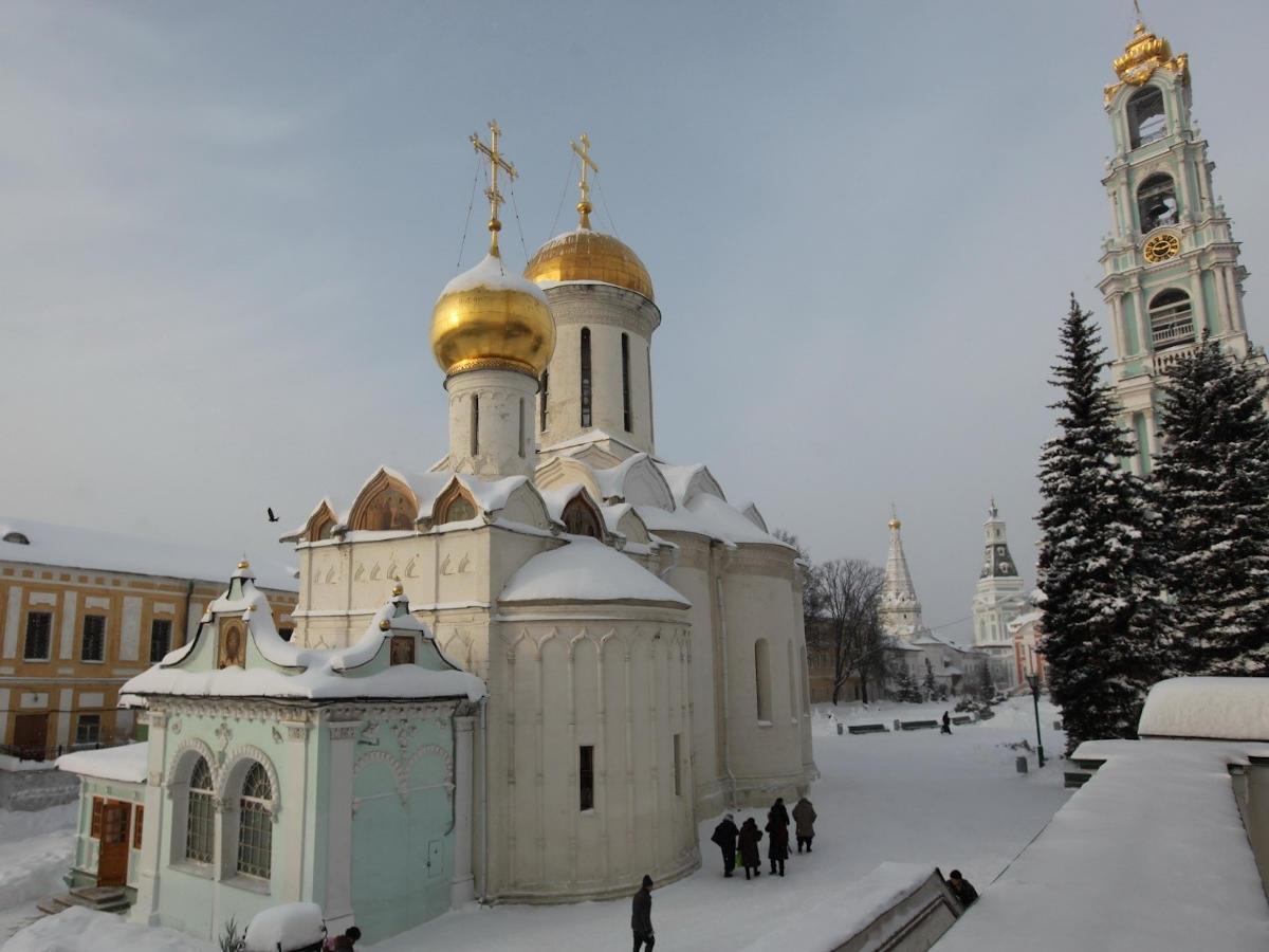 Вид на церковь преподобного Никона Радонежского и Троицкий собор