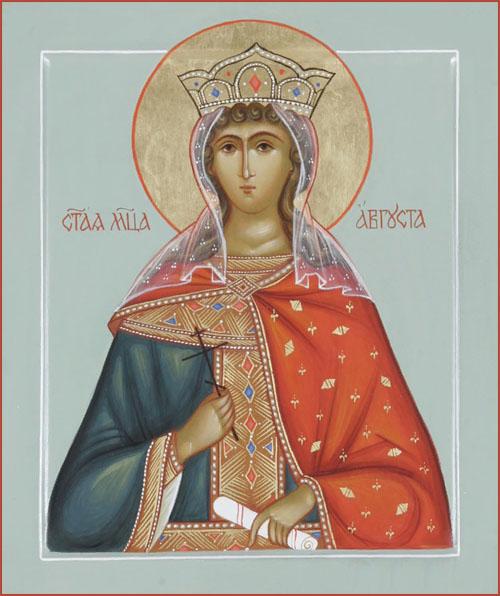 Святая мученица Августа - икона
