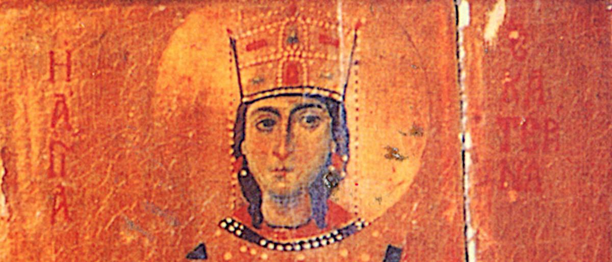 Святая Екатерина - фрагмент иконы