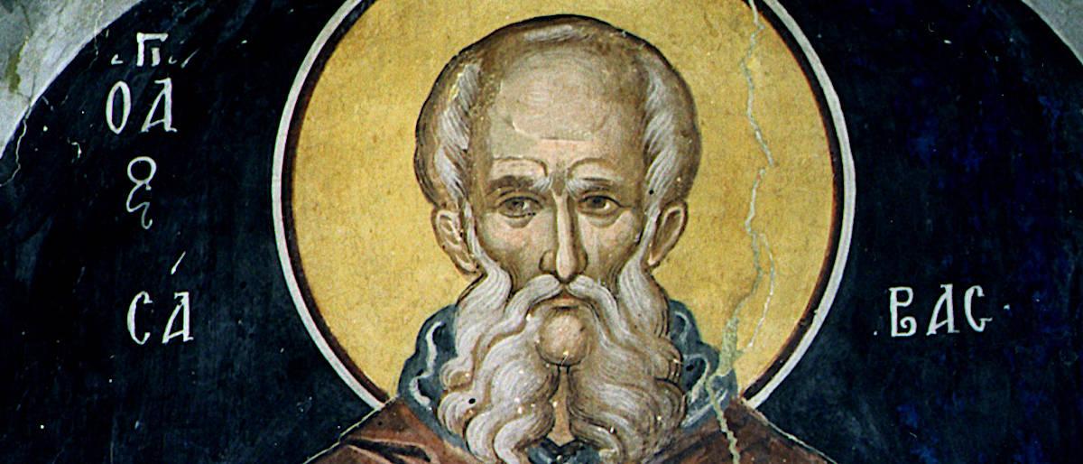 Святой Савва Освященный - фрагмент иконы