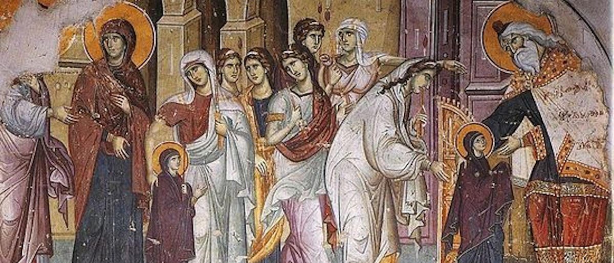 Введение во храм - фрагмент фрески