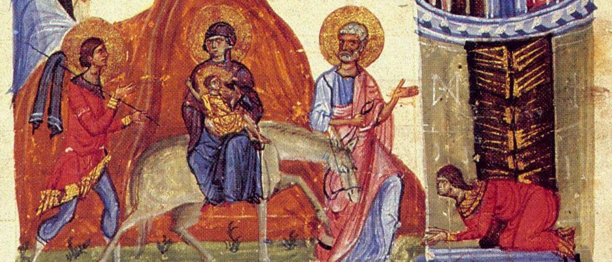 Святой Иосиф Обручник - фрагмент иконы
