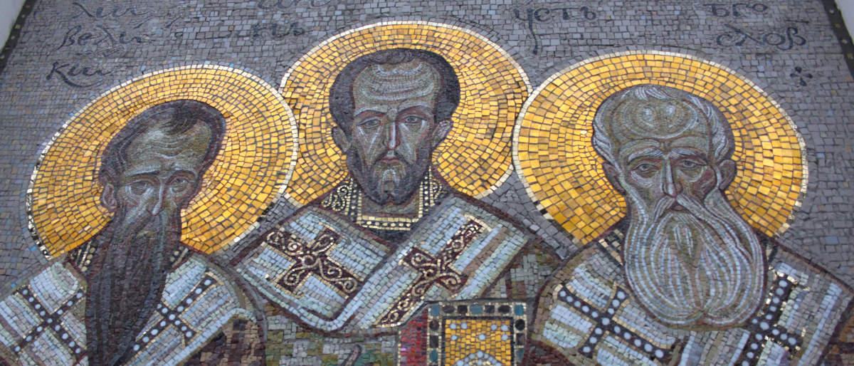 Три святителя - мозаика