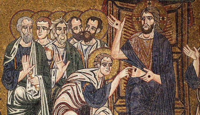 Уверение апостола Фомы - фреска