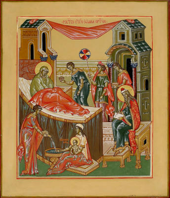 Рождество св Иоанна Предтечи - икона