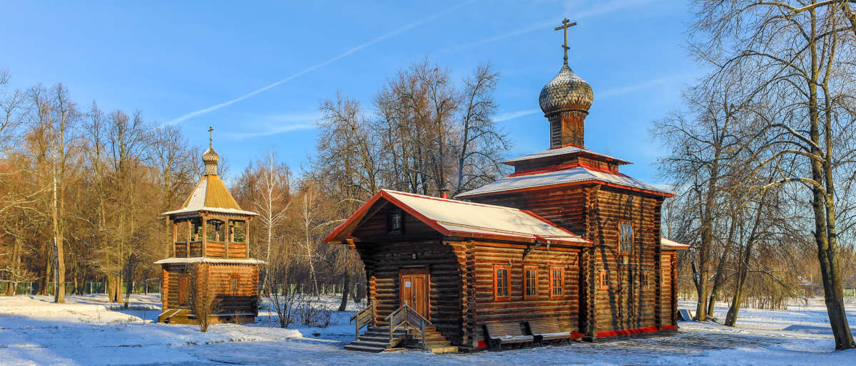 Деревянный храм в Бутово