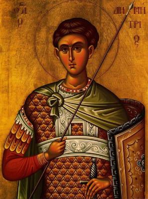 Святой Димитрий Солунский - икона