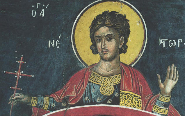 Святой Нестор Солунский - икона