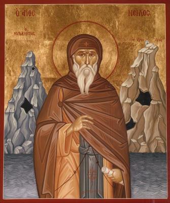 Святой Нил Постник - икона