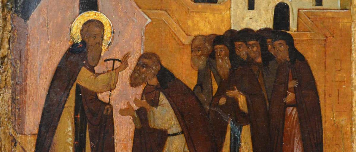 Святой Вараллам Хутынский с братией