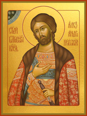 Святой Александр Невский - икона