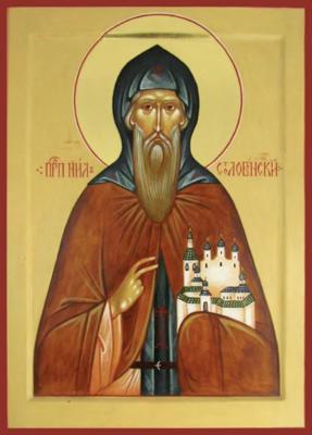 Преподобный Нил Столобенский - икона