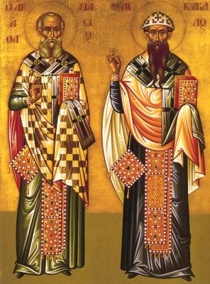 Свтт Афанасий и Кирилл - икона